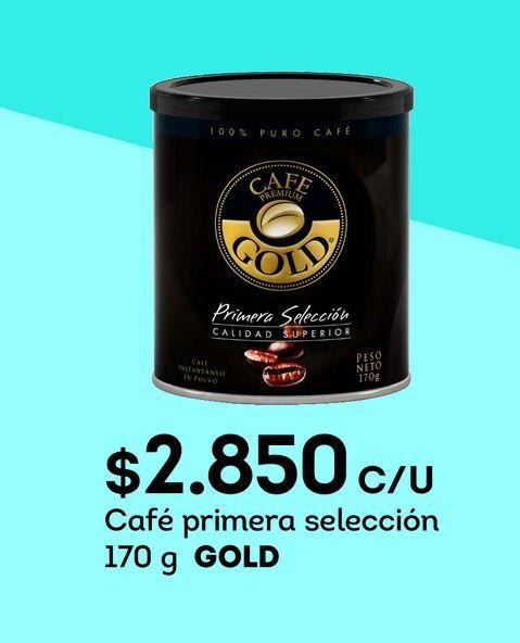 Ofertas de Café primera selección 170 g GOLD por $2850