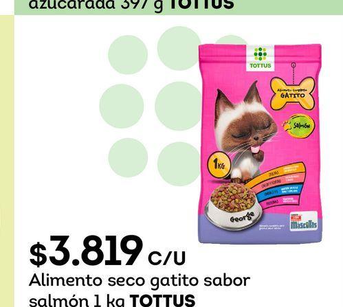 Ofertas de Alimento seco gatito sabor salmón 1 kg TOTTUS por $3819