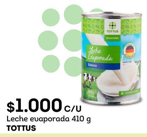 Ofertas de Leche evaporada Tottus por $1000