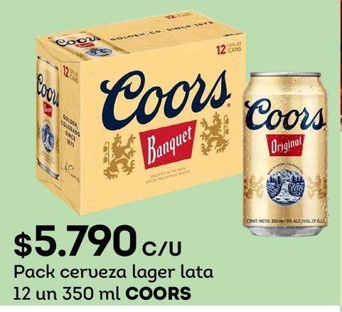 Ofertas de Cervezas Coors por $5790