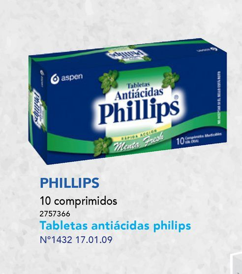 Ofertas de TABLETAS PHILLIPS X10COM.MAST. por