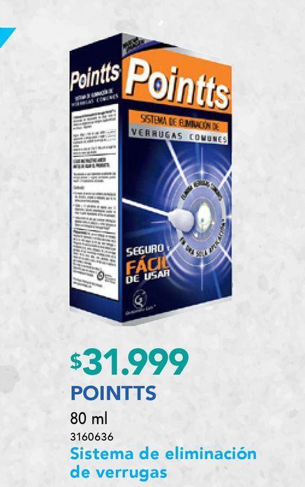 Ofertas de POINTTS SIST.ELIM.VERRUGAS X12APLICACION por $31999