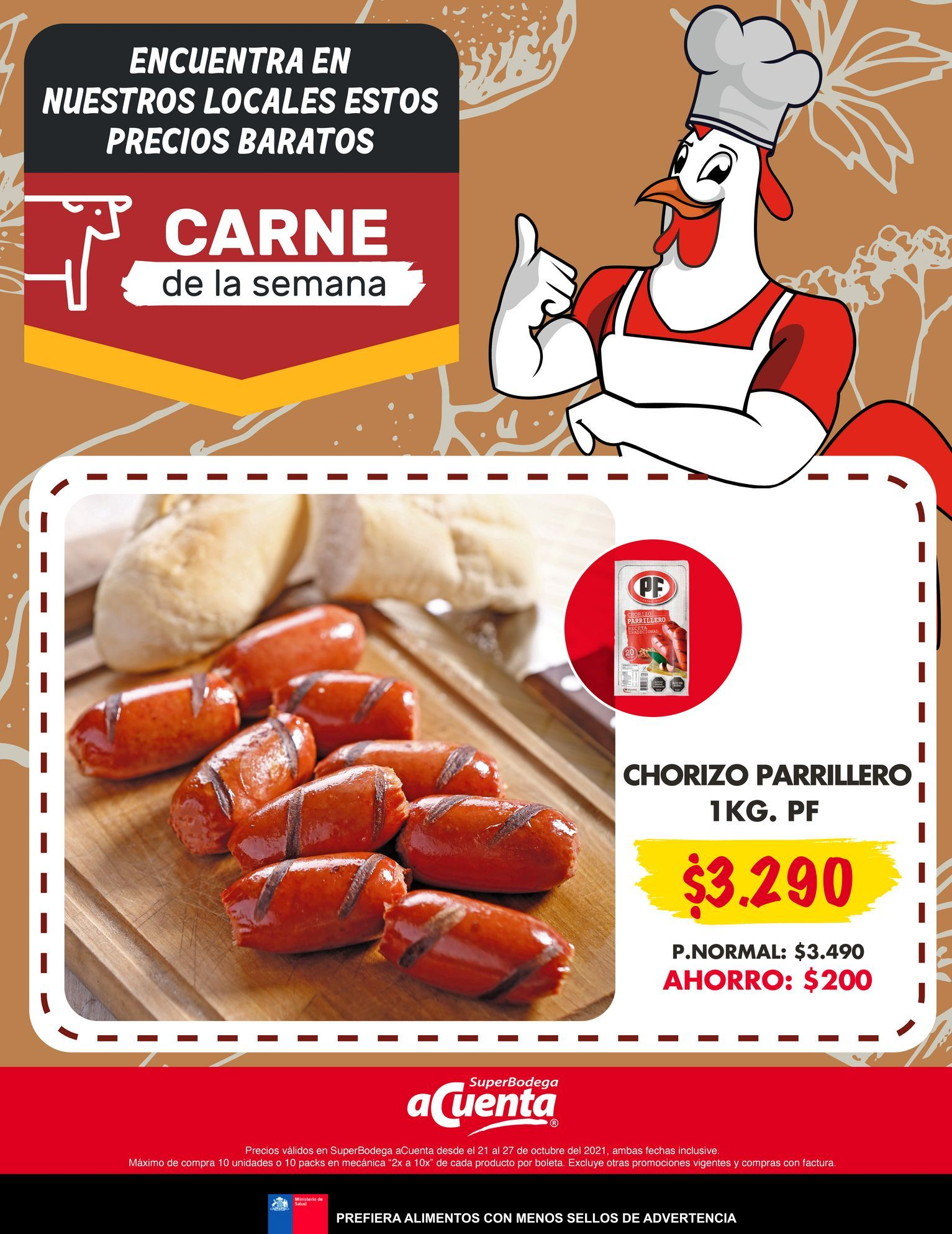 Ofertas de Chorizo parrillero 1 kg por $3290